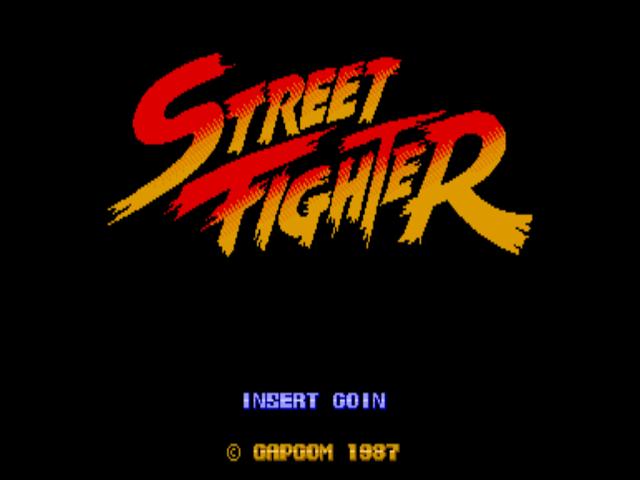 Tela título de Street Fighter