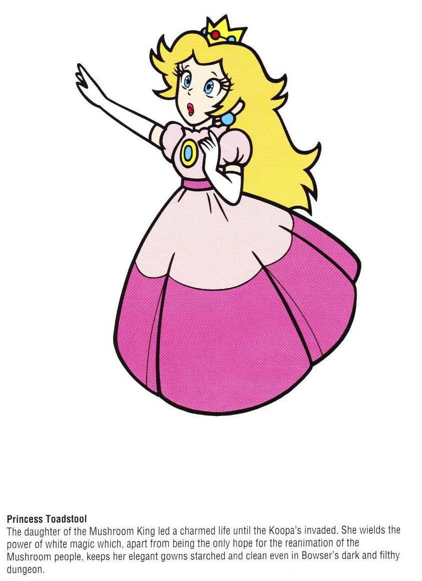 Nintendo Official Character Manual Princesa Peach Perfil