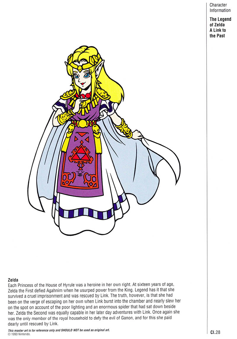 Nintendo Official Character Manual Zelda Perfil
