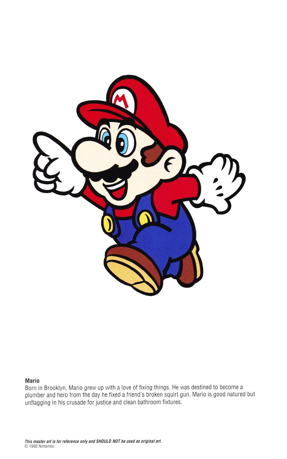 Nintendo Official Character Manual Perfil de Mario