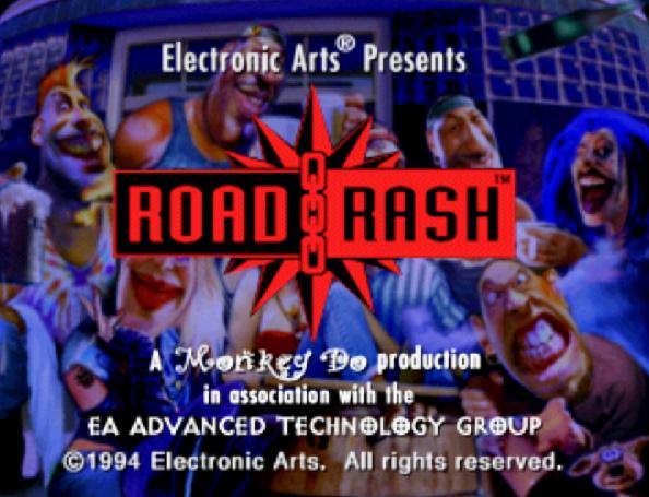 Road Rash tela-título 3DO