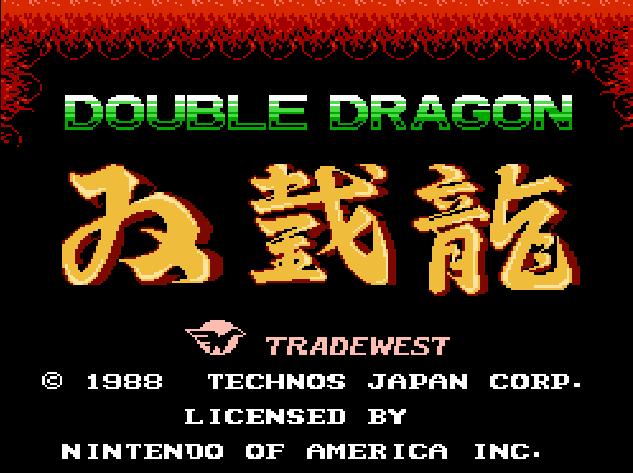 Double Dragon (NES) screen title