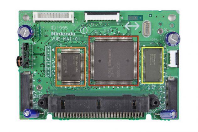 Placa principal do Virtual Boy.