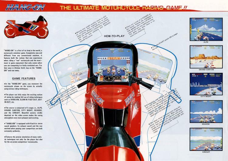 Anúncio do arcade Hang-On