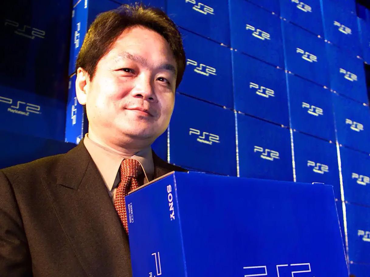 ken kutaragi com o playstation 2 afp via getty